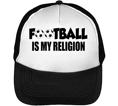 Football Is My Religion Dope Gorras Hombre Snapback Beisbol Negro Blanco
