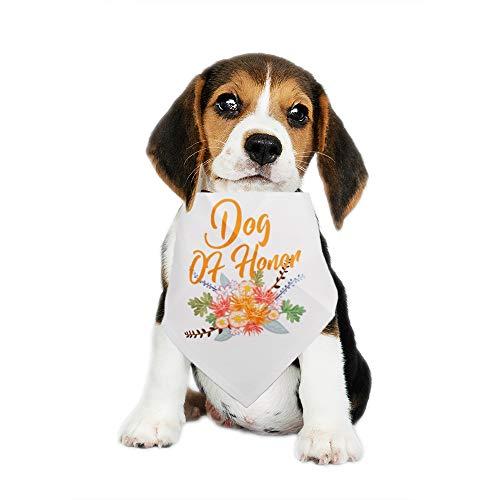 Leaves Dog Bandana - Blue Leaves Dog Bandanas,Dog of Honor Dog Bandanas, Wedding Photo Prop, Pet Scarf, Pet Accessories, Creative Dog Bandanas,Scarf for Small and Medium Dogs and Cats,Washable Adjustable
