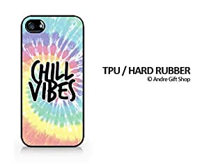 TPU / RUBBER Black Case - Chill Vibes (Tie Dye Version) - Tie Dye - Colorful - Hipster - iPhone 5/5S - (C) Andre Gift Shop
