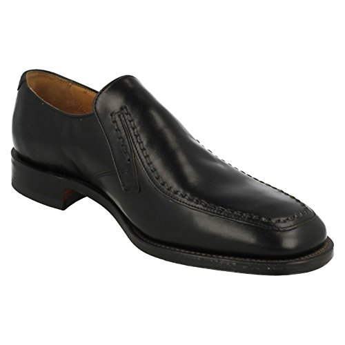 Mens Loake Smart Slip On Shoes - Cavendish Black ZeswuKq