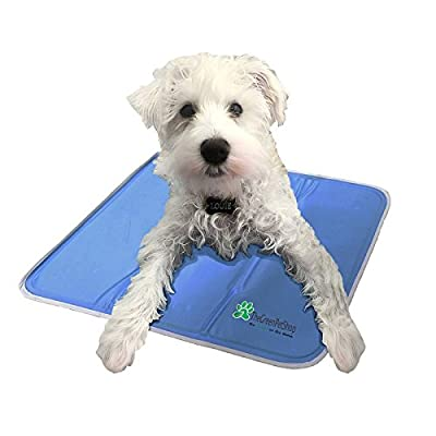 The Green Pet Shop Cooling Pet Mat/Pad - Patented Pressure-Activated Cool Gel Technology - Help Your Dog Stay Cool - Prevent Overheating and Dehydration - Ideal for Home and Travel