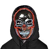 Silver Skull Mask - Halloween LED Light Up Purge Mask - 3 Modes Lightening