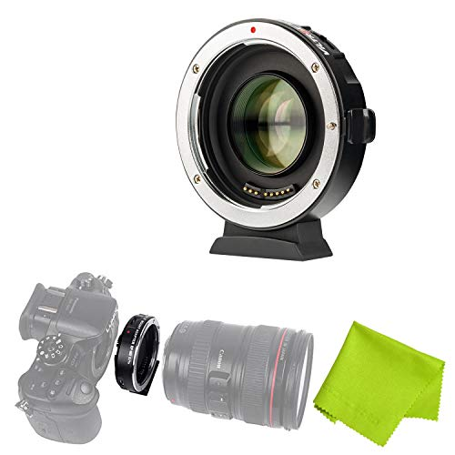 Viltrox EF-M2 Auto Focus Lens Mount Adapter 0.71X for Canon EOS EF Lens to Micro Four Thirds (MTF, M4/3) Camera,with USB update port (Micro Four Thirds To Ef)