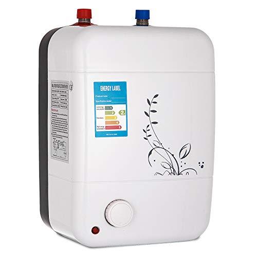 VEVOR Termo Electrico 10 litros Calentador de Agua Electrico1500W 30-75 ° C Termo Electrico Agua Caliente para bano