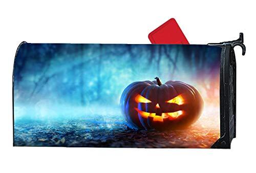 Halloween Jack-o'-Lantern Pumpkins Vinyl Magnetic Mailbox Cover, Home Garden Decoration Mailbox Wraps Full-Surface Magnet On Back