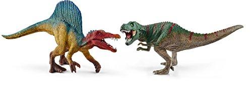 (Schleich North America Spinosaurus & T-Rex, Small Toy Figure)
