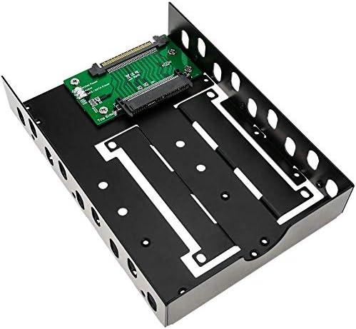 """BeMatik - Adattatore per Disco Rigido da 2.5""""a 3.5"""" di Tipo U.2 SSD SSD NVMe a U.2 SAS SATA"""