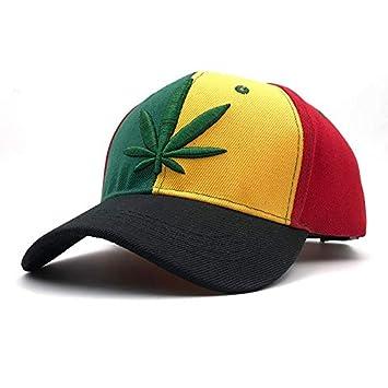 SUNNYBQM Gorra De Beisbol Bordado 3D Weed Cap Rainbow Colores ...