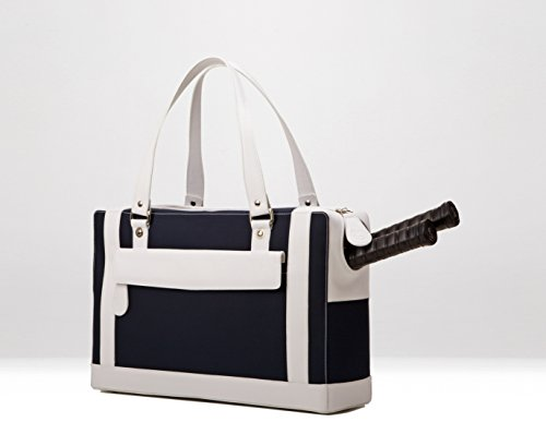 Cortiglia Marina Blue Navy/white Tennis Bag by Cortiglia