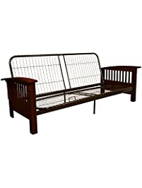 epic furnishings brentwood mission style futon sofa sleeper bed frame queen size - Futon Bed Frames