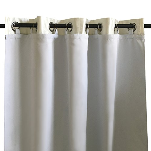 - DriftAway Thermal Insulated Blackout Curtain Liner for Grommet 84 Inch Curtains 2 Panels Each Liner Size 50 Inch by 80 Inch Rings Included