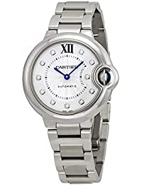 Ballon Bleu 33mm Ladies Automatic Stainless Steel with Diamond Dial Watch - WE902074