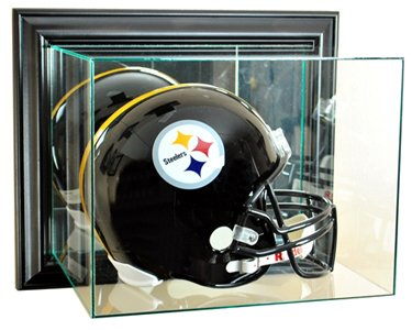 Wall Mounted Football Case (NFL Wall Mounted Football Helmet Glass Display Case, Black)