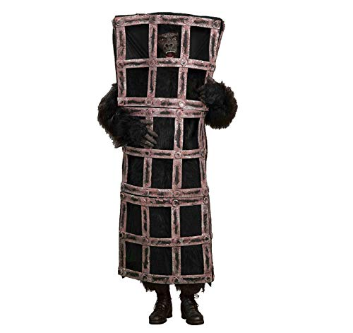 Forum Gorilla In A Cage Costume, Brown, One Size -