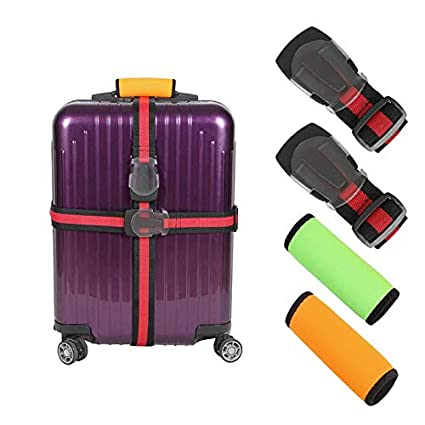 a7bc25dfdb00 Luggage Belt Strap, Heavy Duty Suitcase Luggage Straps with Luggage handle  wraps, Travel Accessories With Quick Connect Frosty Buckle For Car ...