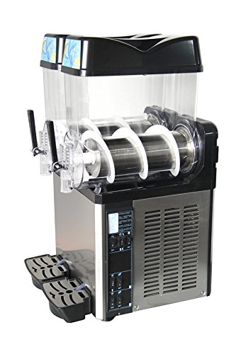 Slush Machine- Slushie Machine and Beverage Dispenser with Two 12L Tanks, 110V and 60Hz, Make the Perfect Fine Ice Slushies with the Frozen Drink Machine, a U.S. Solid Product