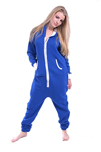 ... Newfacelook Women Ladies Plain Onesie Hoody All In One Zip One Piece Hoodie  Jumpsuit