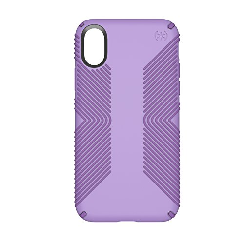 Speck Products Presidio Grip Case for iPhone X, Aster Purple/Heliotrope Purple (Speck Purple Case)