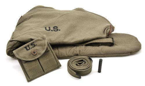 Best Price World War Supply US WW2 M1 Carbine OD Fleece Lined Carry Case, Sling with oiler and Butts...