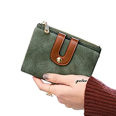 Women's RFID Bifold Leather Wallet Ladies Mini Purse with id Window Small Zipper Pocket for Coin Card Key Cash,Soft Compact Short Thin Wallet