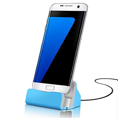 goalBY Micro USB Dock Charge Cradle Docking Station for Samsung Galaxy S7 S7Edge Blue ()