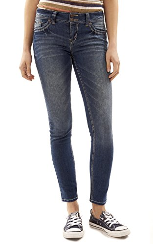 WallFlower Juniors Luscious Curvy Skinny Jeans in Katy Size: 9 (Best Jeans For Curvy Juniors)