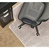 Realspace(R) Economy Chair Mat For Low-Pile Carpets, 36in.W x 48in.D, Studded, Standard Lip, Clear