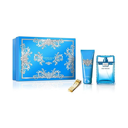VERSACE Eau Fraiche Men Gift Set, 3.4 Fluid Ounce