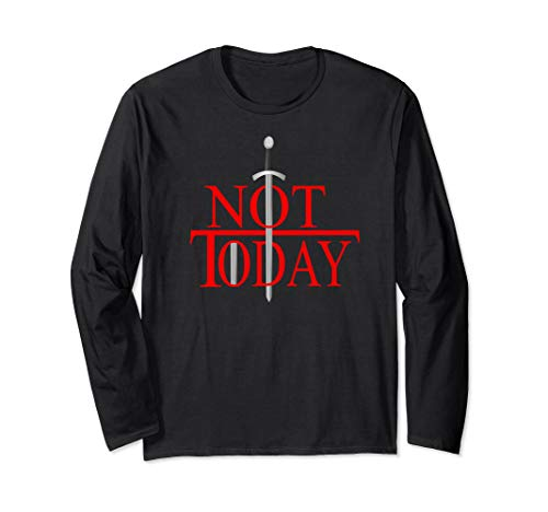 Not Today What Do We Say To The God Of Death?Funny Christmas Long Sleeve T-Shirt (Christmas Black Heather Death 2019)