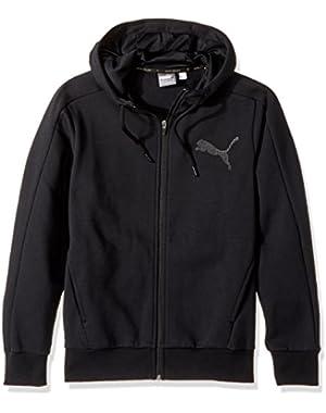 Men's P48 Core Fleece Full Zip Hoodie, Cotton Black, X-Small