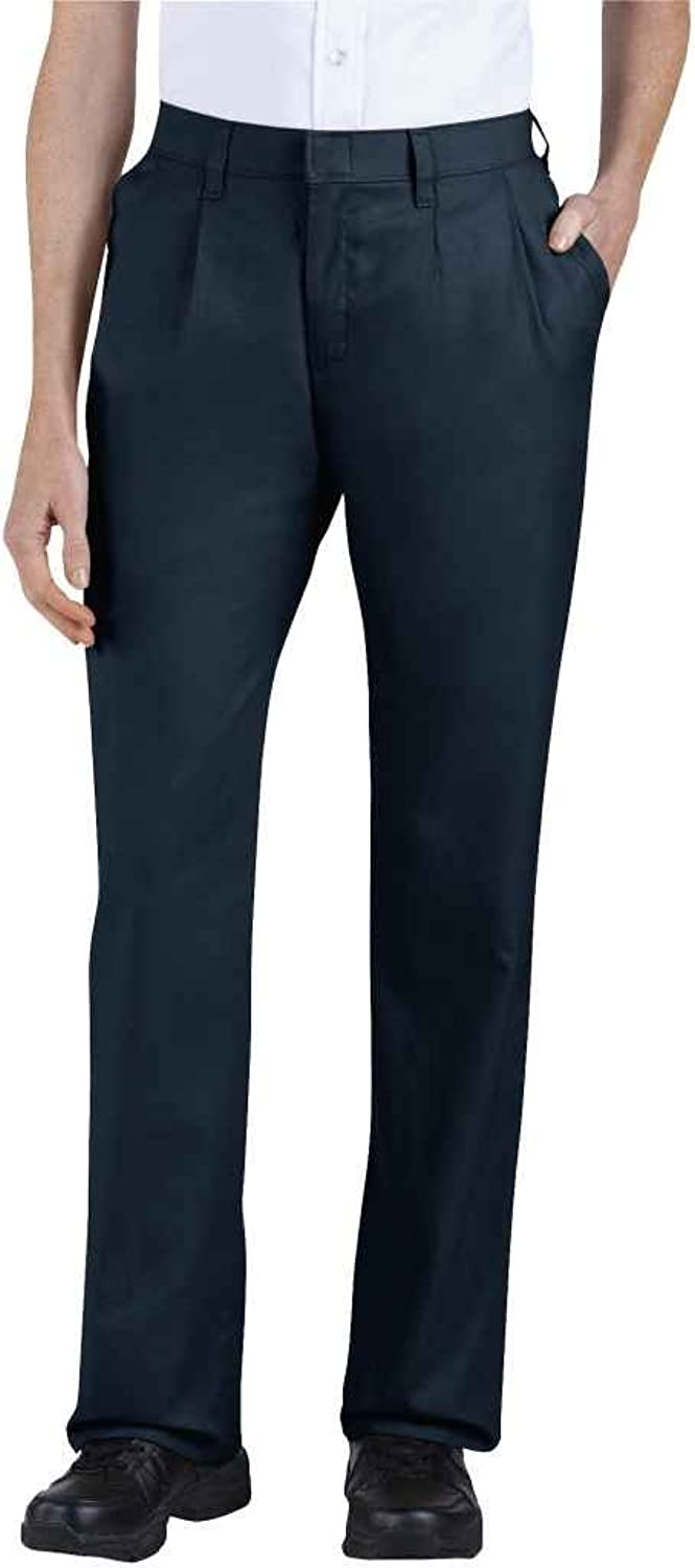 Dickies FPW220 Women's Plus Relaxed Fit Pleated Front Pant Dark Navy Size 20