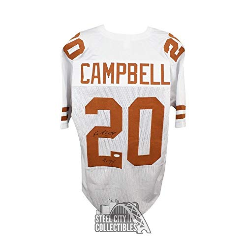 254aeedd552 Earl Campbell HOF Autographed Signed Texas Longhorns Custom White Football  Jerse.