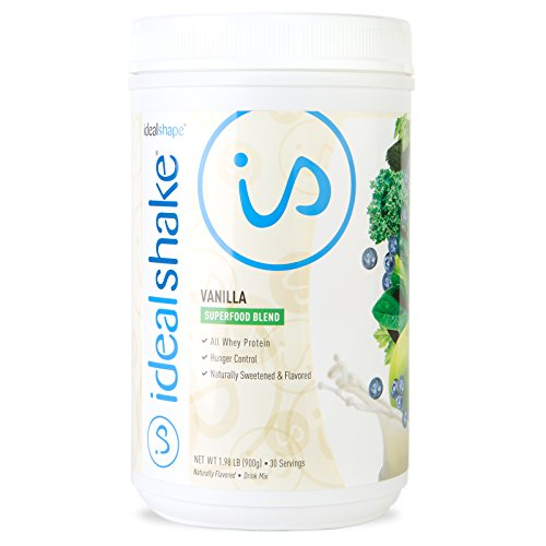 IdealShake Meal Replacement Shakes |11-12g of Healthy Whey Protein Blend | Promotes Weight Loss | 22 Essential Vitamins & Minerals | 5g of Fiber | Vanilla Super Food | 30 Servings