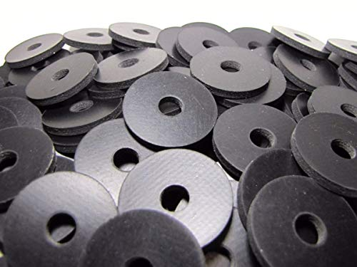 Reinforced Rubber Washers - (100 Pack) 2 Ply Nylon Reinforced Neoprene Rubber Washers - 1 1/4
