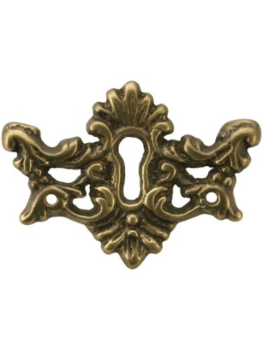 Brass Keyhole Cover (Decorative Solid Brass Keyhole Cover In Antique-By-Hand Finish)