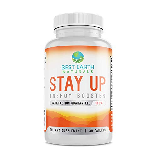 Stay Up Energy Booster by Best Earth Naturals – Energy Supplement with Top Rated Ginseng, Guarana, B Vitamins and More for Increased Energy, Endurance and Alertness