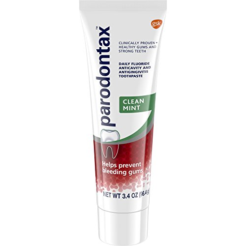 Parodontax Clean Mint Toothpaste for Bleeding Gums, 3.4 Ounce (Pack of 6) - 6 Bleeding Gums