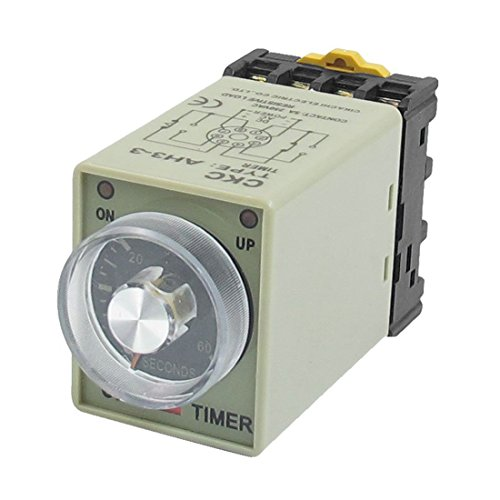 TOOGOO(R) AC 110V 0-60 Seconds 8P Screw Resistive Load Delay Timer Time Relay w Base