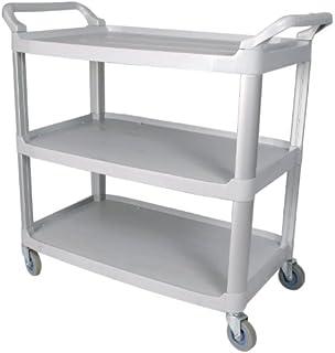 Amazoncom Winco USA 3Tier Utility Cart Black Home Kitchen  Kitchen Utility Cart