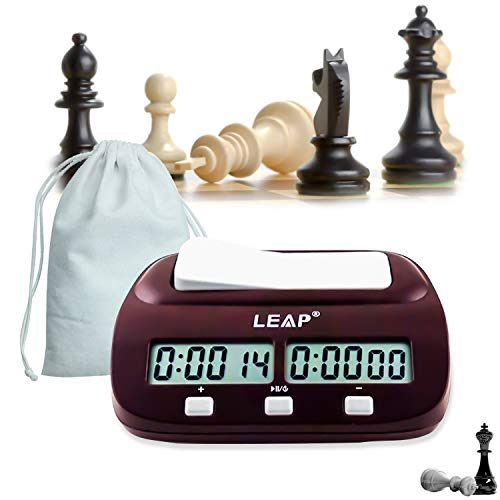 Chess Clock Professional Digital Chess Timer Count Up Down Timer with Clock And Game Timer with Bonus and Delay With storage bag
