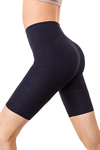 MD Women's Thigh Shapewear High Waist Mid Thigh Shaper Slimmer Power Shorts XLarge Black