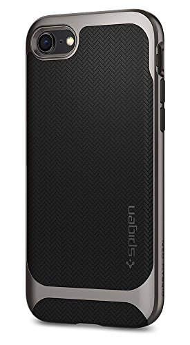 Spigen Neo Hybrid Herringbone iPhone 8 Case / iPhone 7 Case with Flexible Inner Protection and Reinforced Hard Bumper Frame for Apple iPhone 8 (2017) / iPhone 7 (2016) - - Case Hybrid Hard