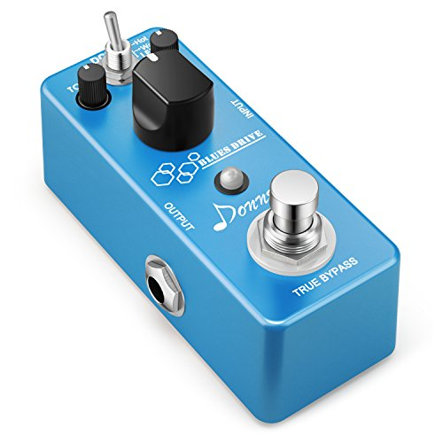 (Donner Blues Drive Classical Electronic Vintage Overdrive Guitar Effect Pedal True Bypass Warm/Hot Modes)