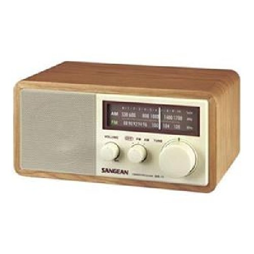 Sangean WR-11 Tabletop FM/AM Analog Wooden Cabinet Radio Receiver, Walnut, Tuning and Band Indicator, Soft and Precise Tuning, Deep Bass Compensation, 3