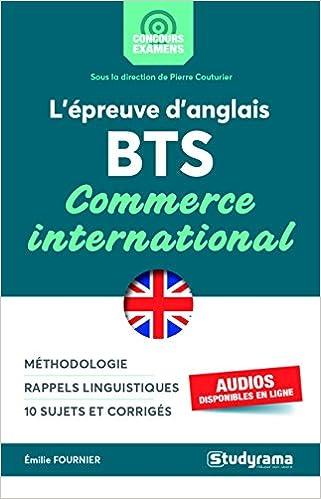 Lépreuve danglais au BTS commerce international
