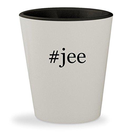 #jee - Hashtag White Outer & Black Inner Ceramic 1.5oz Shot Glass