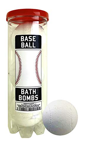 Baseball Bath Bombs - 3 pack - Baseball Gifts - Luxury Scented Bath Bomb Fizzies - Great Gift for Baseball players, Teammates, Opponents, Baseball Clubs and Leagues, Birthdays, Men, Boys, Women, Girls