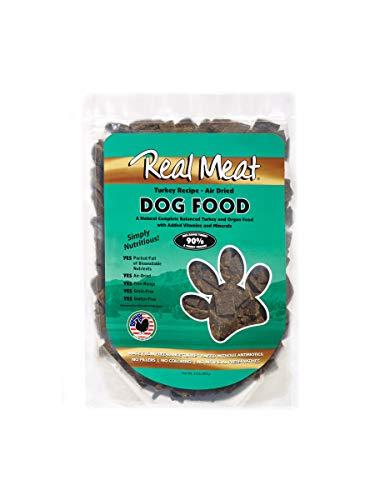 Real Meat Company Air Dried Turkey Dog Food, 2-lb Bag (Best Dog Food Company)