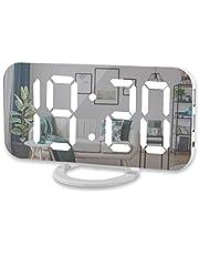 bobotron Digital väckarklocka, 15 cm stor LED-skärm med två USB-laddare?t anslutning bil dimmer läge enkel snooze-funktion, för sovrum hem kontor för alla människor