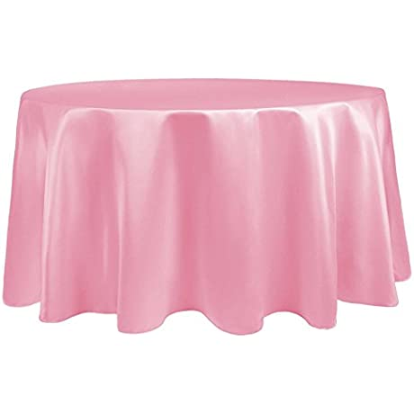 Ultimate Textile 10 Pack Satin 120 Inch Round Tablecloth For Wedding Special Event Or Banquet Use Peppermint Pink